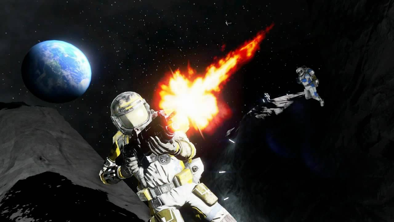 A still from the Call of Duty: Space Warfare trailer
