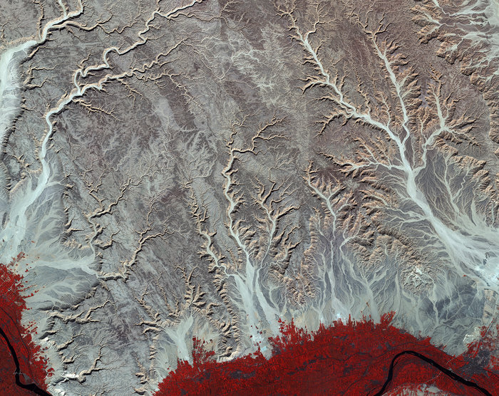 An image captured by the Sentinel-2A satellite of Egypt's Eastern Desert. Copyright: Copernicus Sentinel data (2016)/ESA