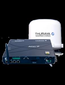 Thuraya's Atlas IP terminal. Picture courtesy of Thuraya Telecommunications Company.