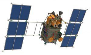 Kanopus-V Remote-Sensing Satellite. Image courtesy of NASA.