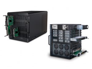 Gilat's SkyEdge II-c hub, featuring c-chassis and x-chassis. Photograph courtesy of Gilat Satellite Networks Ltd.