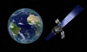 Artist's depiction of YahSat's Al Yah-3 satellite. Picture courtesy of YahSat.
