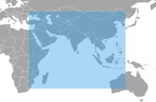 NAVIC coverage. Image courtesy of Wikipedia.