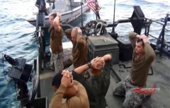 US Navy sailors surrendering to their Iranian IRGC captors in January 2016. Video still courtesy of Al-Alam TV.