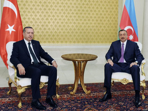 Turkish President Recep Tayyip Erdogan (left) and President of Azerbaijan Ilam Aliyev (right. Photograph courtesy of www.report.az.