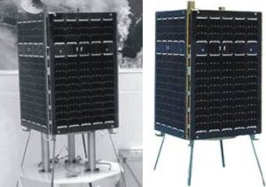 Photographs of Iran's Mesbah satellite, courtesy of b14643.de