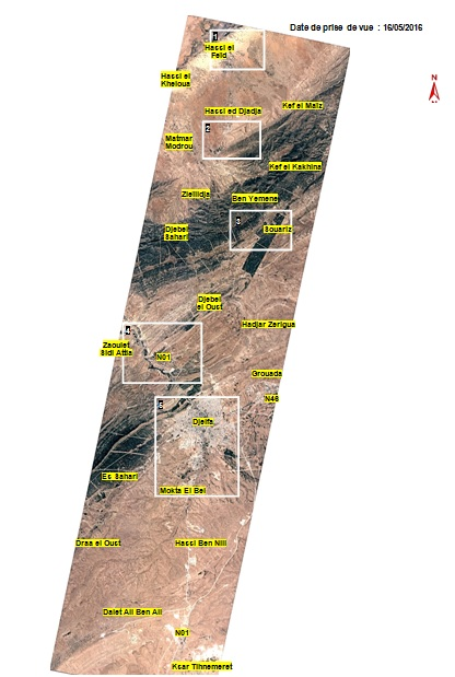 ALSAT-2A view of the Djelfa Province, Algeria. Image courtesy of Agence Spatiale Algerienne.
