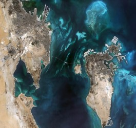 Sentinel-2 image of the Arabian Gulf. Image courtesy of the European Union.