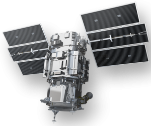 DigitalGlobe's WorldView-1 high-resolution Earth imaging satellite. Image courtesy of DigitalGlobe Inc.