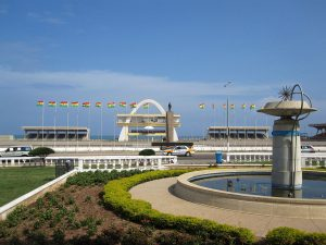 Independence Square in Accra, Ghana. Photograph courtesy of Wikipedia.