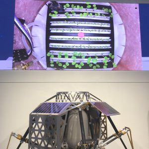 NASA's Lunar plant growth experiment at ALINA Press Event in Berlin, 14 July 2016; Credits: ThorGroup