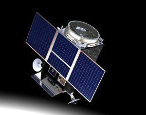 The Lunar Pathfinder Mission. Image courtesy of Surrey Satellite Technology Ltd.