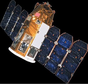 ImageSat International's Eros-B high-resolution imaging satellite. Image courtesy of ImageSat International N.V.