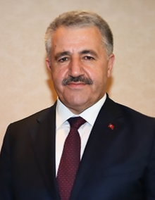 Ahmet Arslan, Turkey's Minister of Transport, Maritime Affairs, and Communication. Photograph courtesy of Wikipedia.
