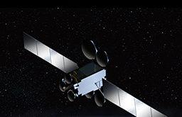 Artist's conception of Es'hailSat's Es'hail-2 telecommunications satellite. Credits: MELCO.