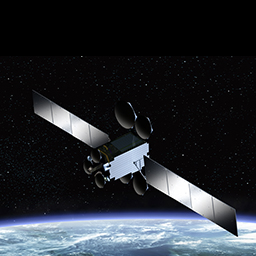 Artist's conception of Es'hailSat's Es'hail-2 telecommunications satellite. Credits: MELCO.