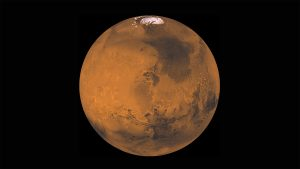 Mars, the Red Planet. Picture courtesy of the Jet Propulsion Laboratory and NASA.