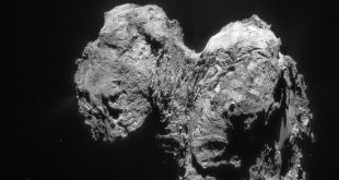 Comet 67P/Churyumov-Gerasimenko; Copyright: ESA/Rosetta/NAVCAM, CC BY-SA IGO 3.0