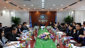 National representatives at the 10th Annual Asia-Pacific Space Cooperation Organisation (APSCO) held in Istanbul, Turkey, 6-8 September 2016. Photograph courtesy of Haberier.com