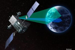The U.S. Air Force's Space-based Infrared System (SBIRS) satellite constellation. Image courtesy of Lockheed Martin.