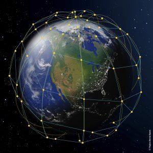 Leosat constellation. Elements of this image furnished by NASA. - Credits: Leosat