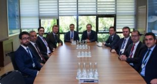 Officials from Türksat and the Turkish Ministry of Health. Photograph courtesy of Türksat.
