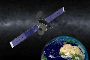 An artist's depiction of EUTELSAT 5 West B. Image courtesy of Orbital ATK.
