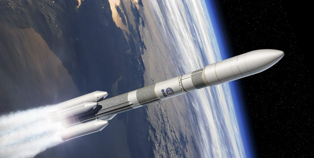 Artist's view of the Ariane 6; Copyright ESA–D. Ducros, 2014