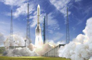 Ariane 6 at the new launch pad; Copyright ESA–David Ducros, 2016