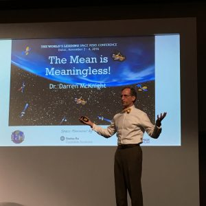 Dr. Darren McKnight at Space Powwow! ; Credits: SpaceWatch Middle East