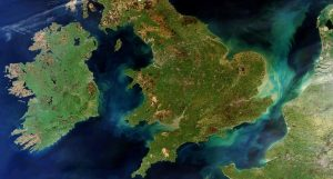 Great Britain and Ireland. Image courtesy of the European Space Agency.