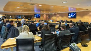 Press briefing on Ministerial Council; Copyright: ESA