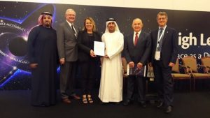 Presentation of the Dubai Declaration; Credits: UNOOSA