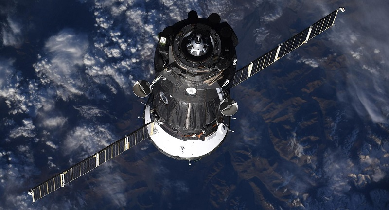 Space station leak caused by man-made hole