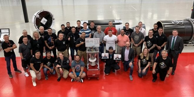 Rocket Lab Celebrates 100th Rutherford Engine Build