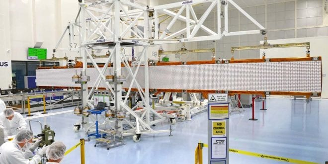 Sentinel-1C radar antenna spreads its wings for the first time
