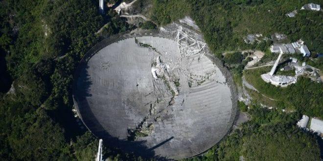 Arecibo radio-telescope in Puerto Rico collapsed