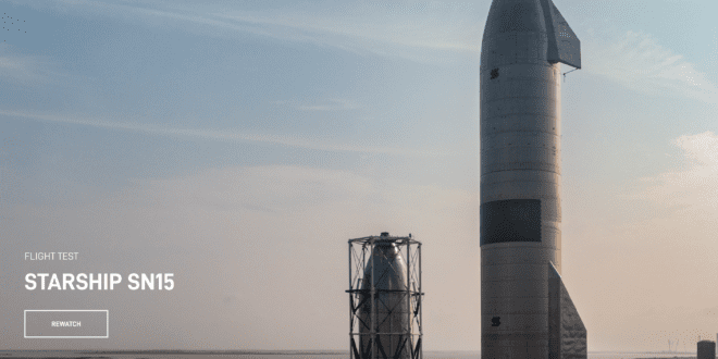 SpaceX succeeds fifth Starship test and lands SN15