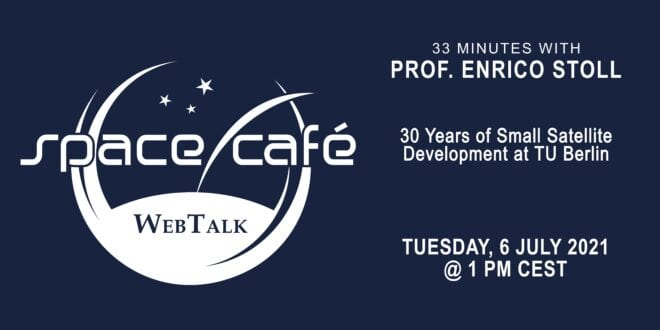"""Register Today For Our Space Café """"33 minutes with Prof. Enrico Stoll"""" On 6 July 2021"""