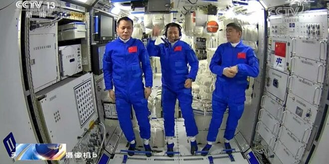 Chinese astronauts enter Tiangong space station