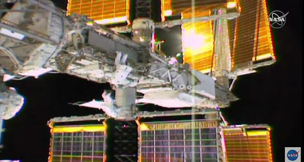 JAXA and ESA spacewalkers carry out system upgrades on ISS