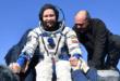 Russian film crew back on Earth